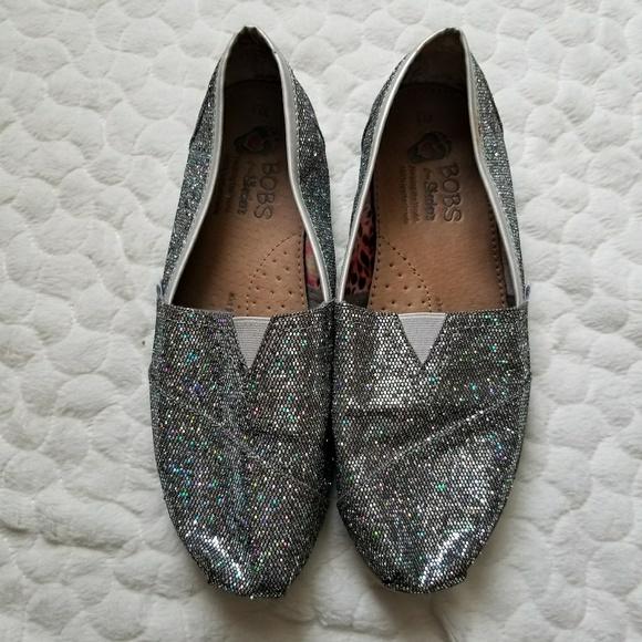 Bobs Skechers Slip On Shoe Silver